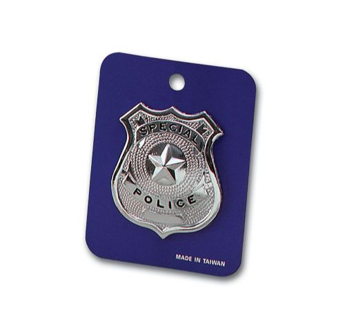 Police Badge - Metal for Cop Policeman Copper Bobby Fancy Dress Accessory